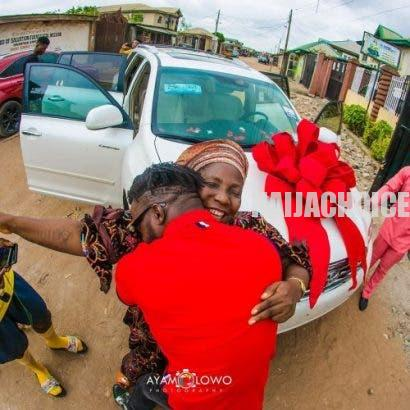 Tears of joy!!! DJ Kaywise surprises mum with new car as birthday gift