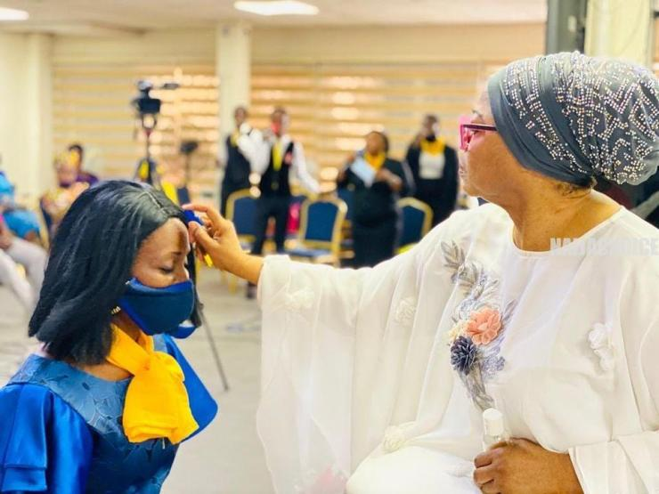 Billionaire Businesswoman, Folorunso Alakija Anoints Her Church Members (Photos)