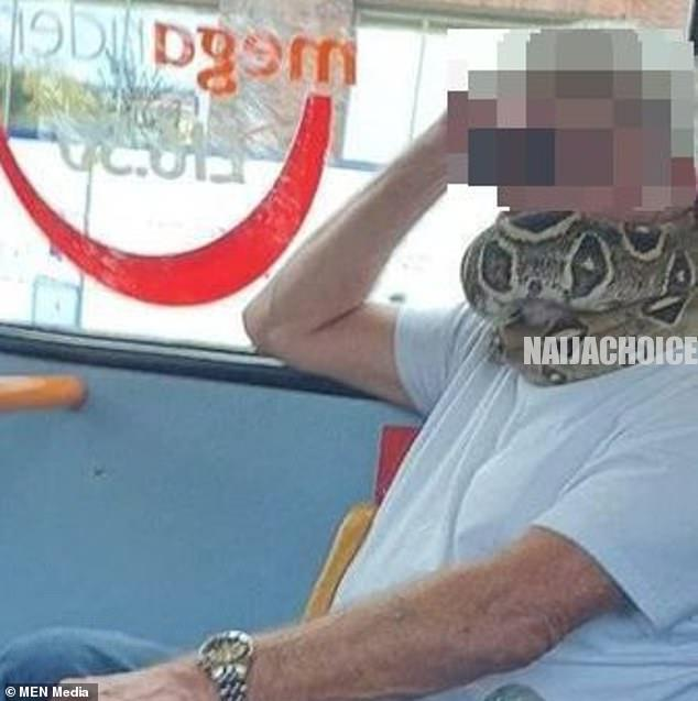 Man Wears Snake Instead Of Face Mask In A Commercial Bus In England (Photos)