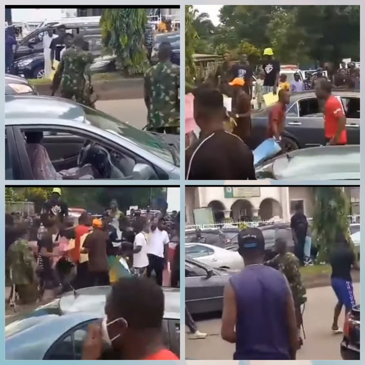 EndSARS: Protesters And Soldiers Clash (Video)