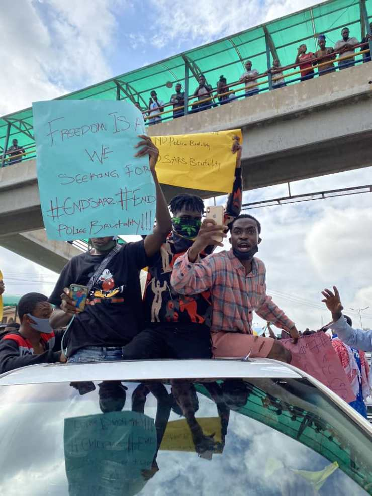 #EndSARS: Protesters Storm Abeokuta With Charms (Photos)