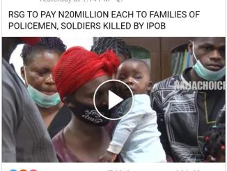 Wike To Pay N20m Each To Families Of Policemen & Soldiers Killed By IPOB (Video)