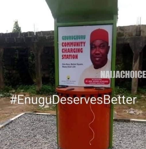 Community Phone Charging Station In Nkanu East LGA, Enugu (Photos)