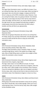 Full Address Of How To Locate The 37 NYSC Orientation Camps