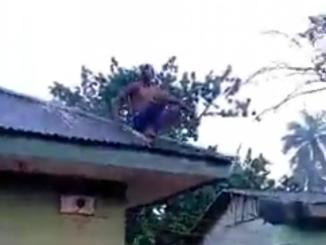Man Accused Of Being A Wizard & Crash Landing On Roof Top While Returning From Coven