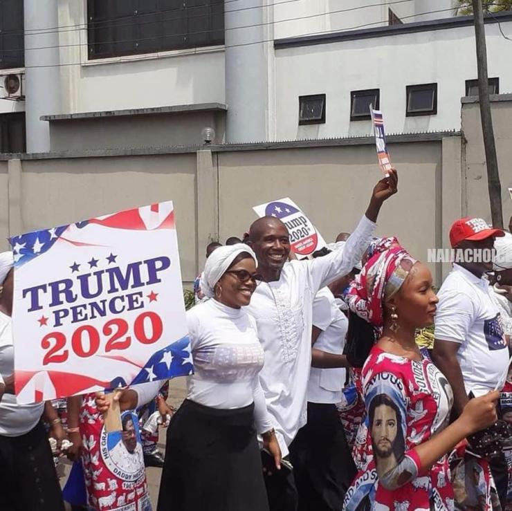 Onitsha Church On A Prayer Walk For President Trump (Pictures & Video)
