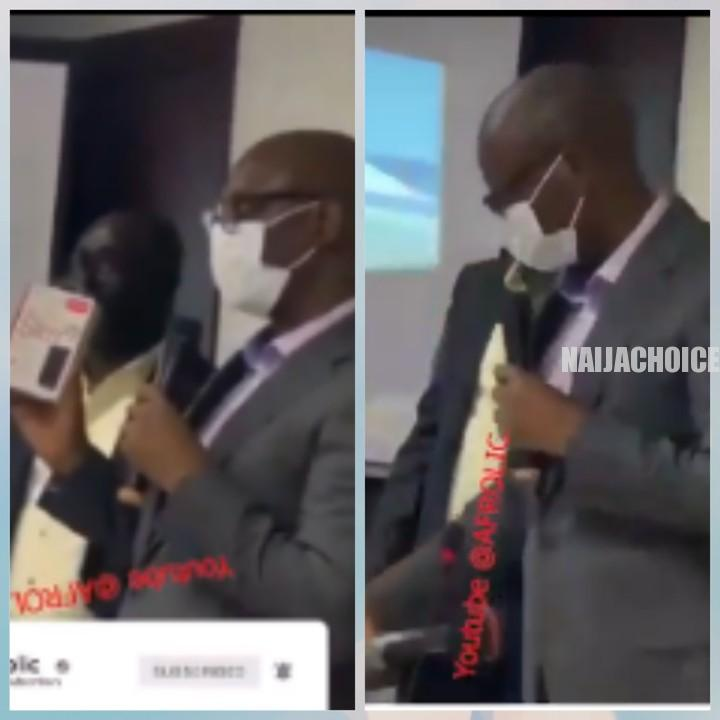 The Moment MD Of LCC, Omomuwa, Submitted The Lekki Tollgate CCTV Footage (Video)
