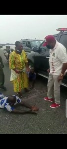 LASTMA General Manager Caught A Man Driving One-Way On 3rd Mainland Bridge (Pics)