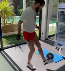 Sergio Ramos Shows Off Skills After Surgery For Knee Injury (Photos, Video)