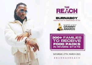 Burna Boy Gifts Food Items To Over 300 Families In Ogoniland, Rivers State (Pictures)