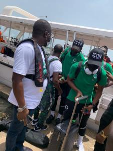 LASG Commutes Super Eagles Via The Waterways To Benin Republic (Pictures)