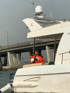 Super Eagles Finally Leave For Benin By Boat For AFCON Qualifier (Photos, Video)