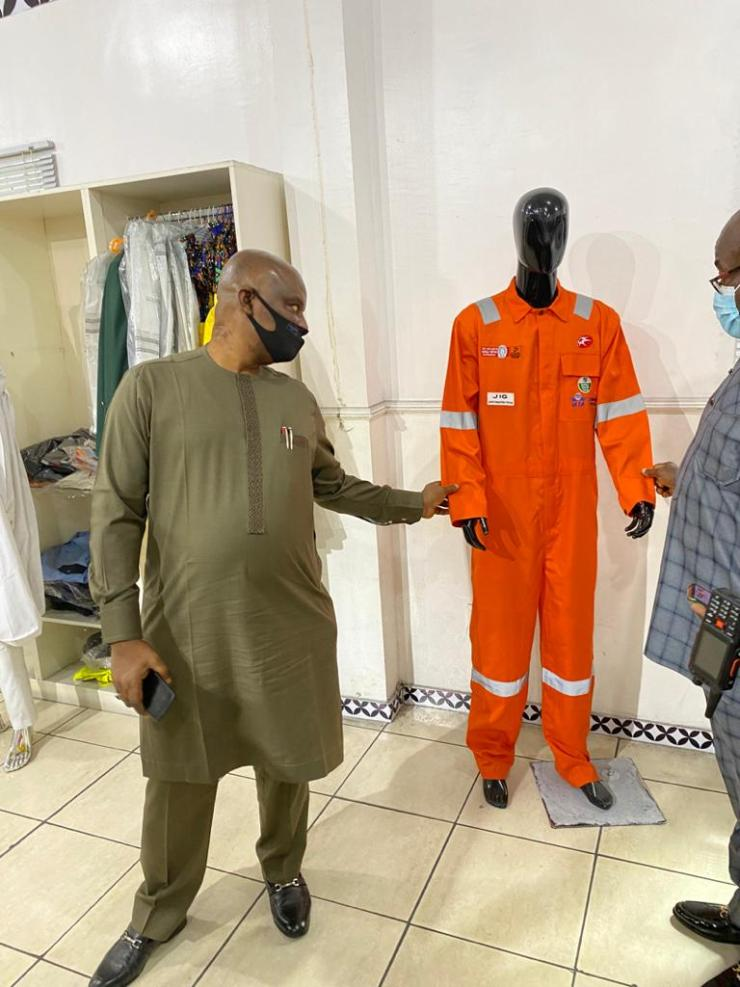 Fire Service Boss Tours Jim Okolo's Garment Factory In Rivers, Visits Wike (Pics)