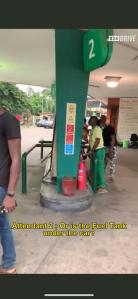 Man Drives A Tesla Into A Petrol Station Leaving Attendants Confused (Video)