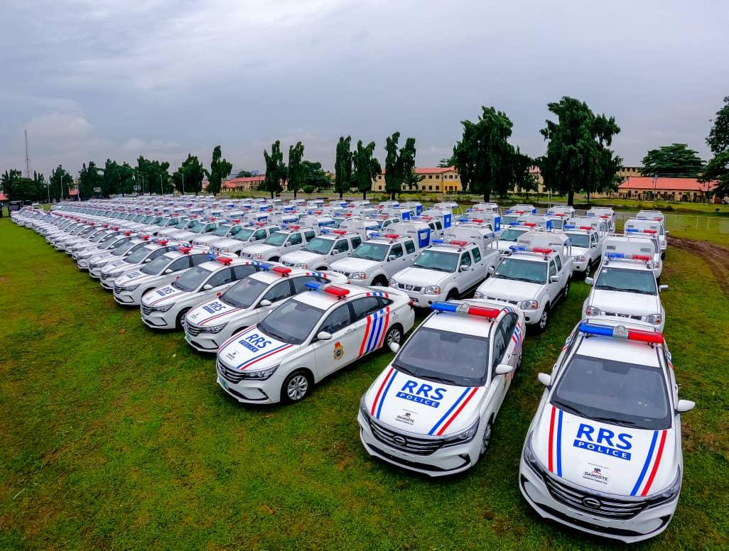 Sanwo-Olu Hands Over 180 Vehicles, 6 Troop Carriers, Other Equipment To The Police