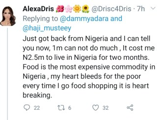 """""""It Cost Me ₦2.5 Million To Live In Nigeria For Two Months"""" - UK-Based Woman"""