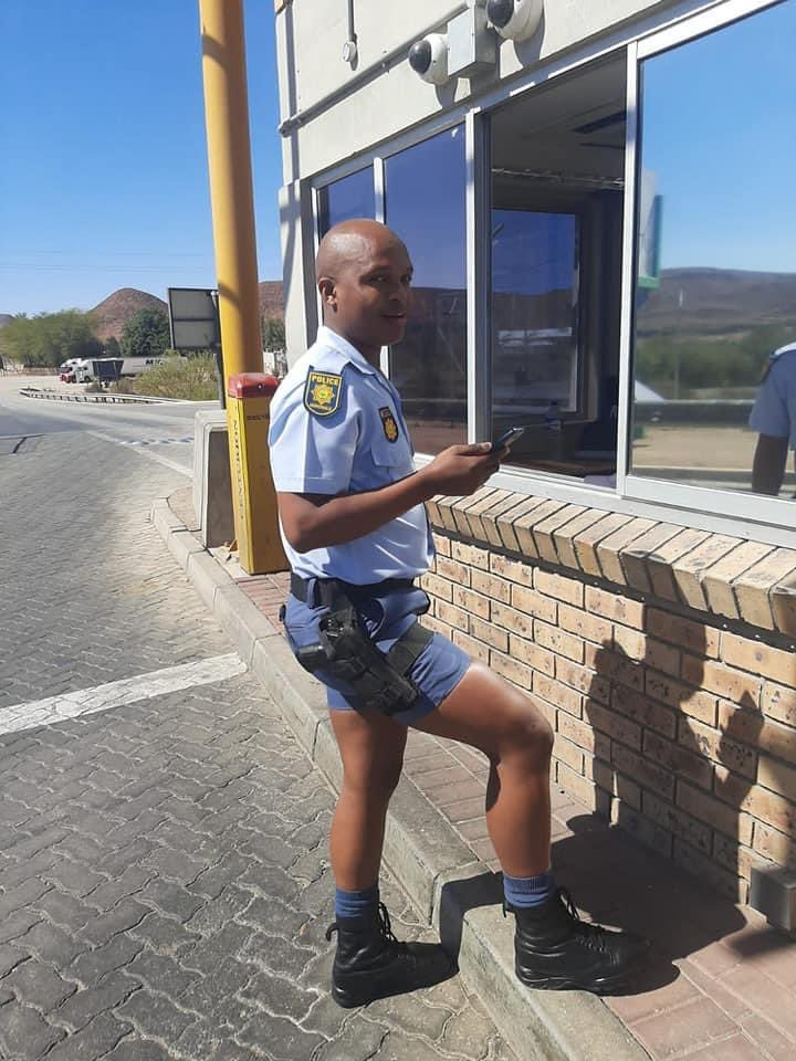 South African Police Officer In 'Sexy' Shorts Gets Tongues Wagging Online (Pix)