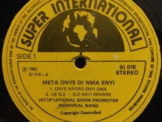 Show Promoter – Onye Ikporo Enyi Oma
