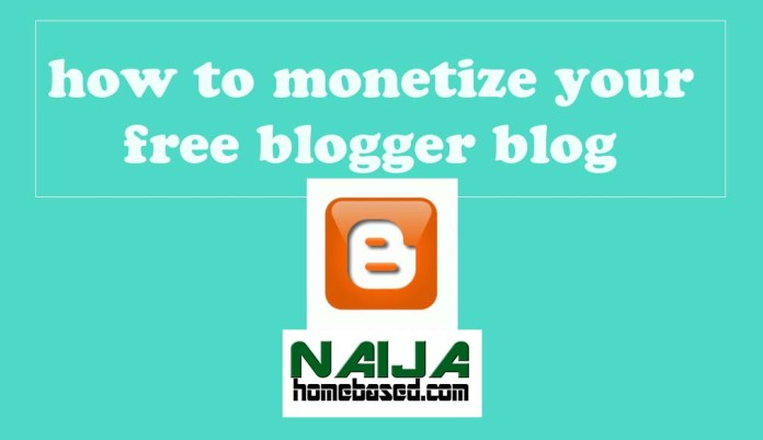 how to make money with a free blogger blog