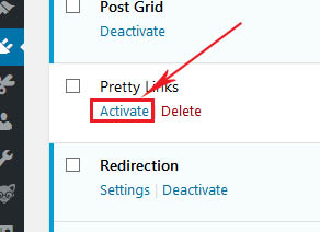 click on activate