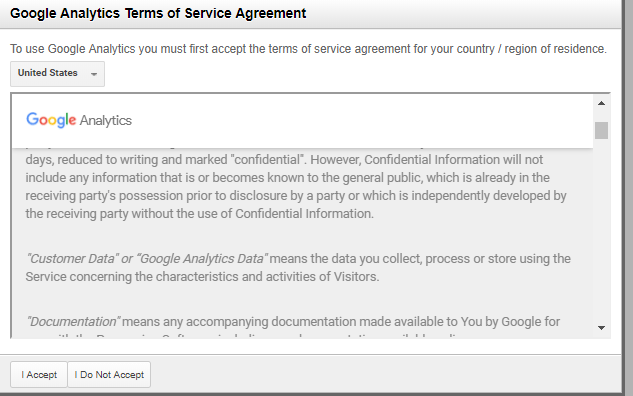 analytics terms and conditions