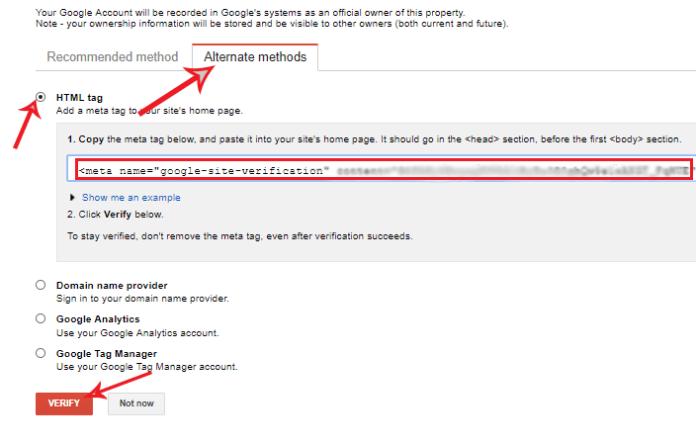 upload meta tag