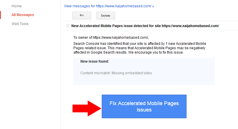 fix accelerated mobile pages issues