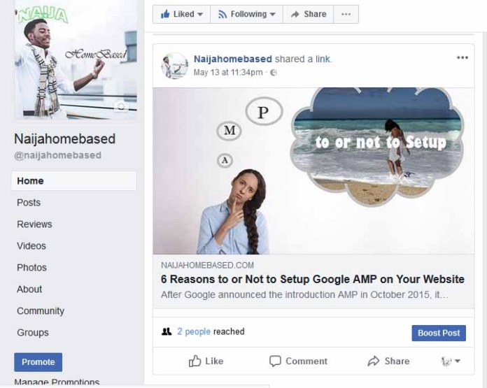post thumbnails of facebook shares