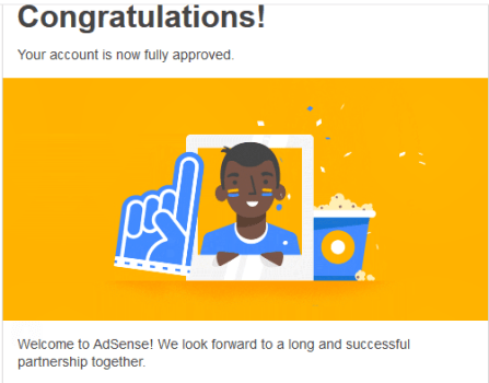 Congratulations! Your AdSense account has been approved