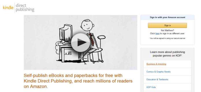 publish an eBook to make money on Amazon