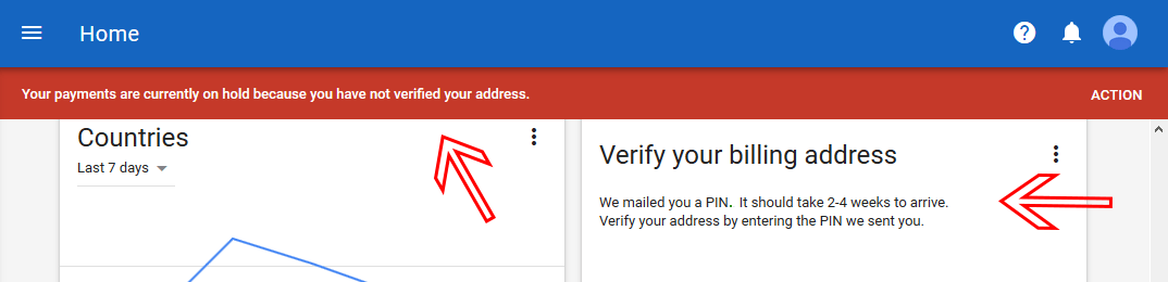 Verifying your billing address with AdSense
