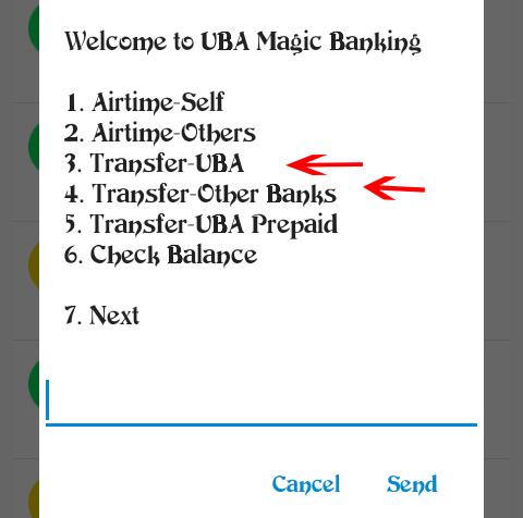 UBA Magic Banking: 3. Transfer-UBA, 4. Transfer-other banks