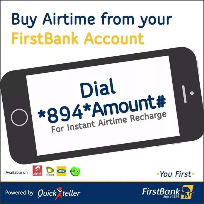 First Bank Airtime Recharge Code — How to Load Airtime Using USSD