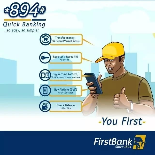 First Bank Nigeria *894# Quick Banking.