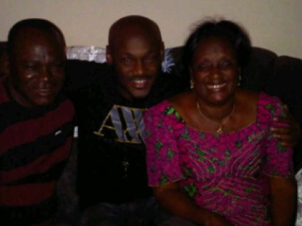 2Baba and his parents, Mr & Mrs Michael Idibia