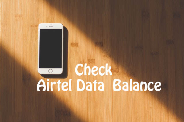 How to check airtel data balance on phone