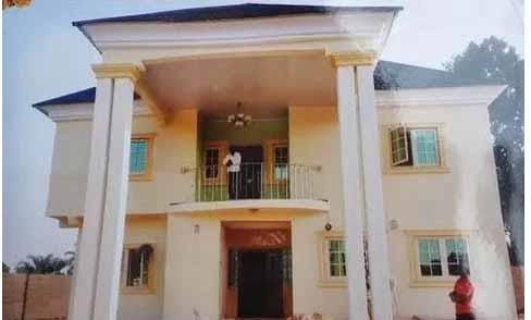 White coloured house of Linda Ikeji's parents