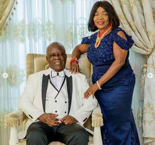 Linda Ikeji's father and mother: Mr & Mrs Ikeji