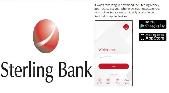 Download Sterling Bank moible app