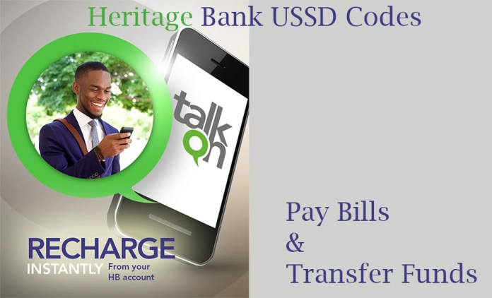 Hertiage Bank Code: transfer, pay bills & recharge