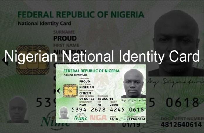 Nigerian national Identity card (ID card)