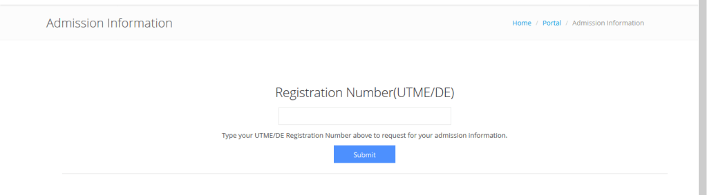 Check FUTA Admission information