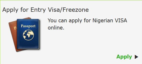 Nigerian visa application button