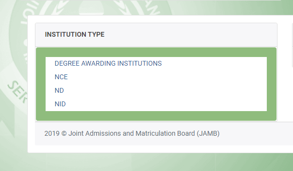 Browse the JAMB eBrochure by institution