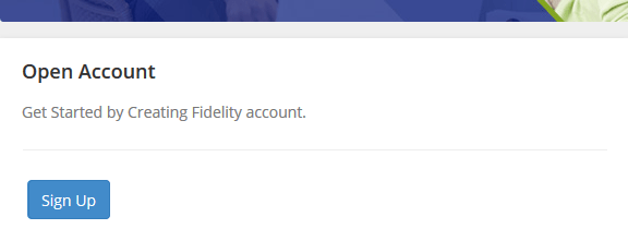 Fidelity bank account opening portal