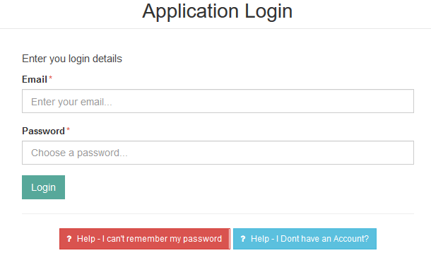 nda portal login page