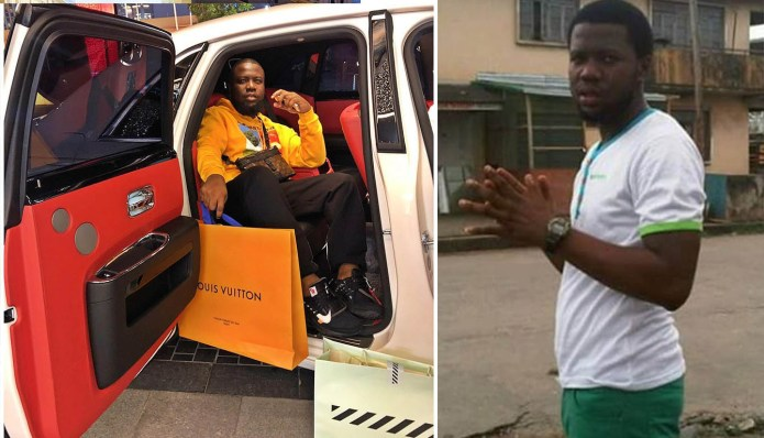 Throwback pictures prove Hushpuppi used to be poor.