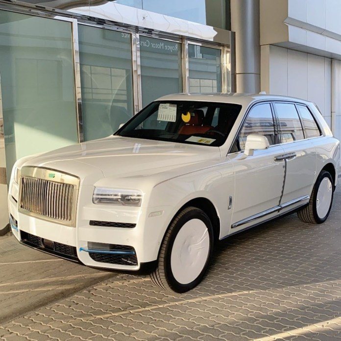 Hushpuppi shows off his 2020 Rolls Royce Cullinan.