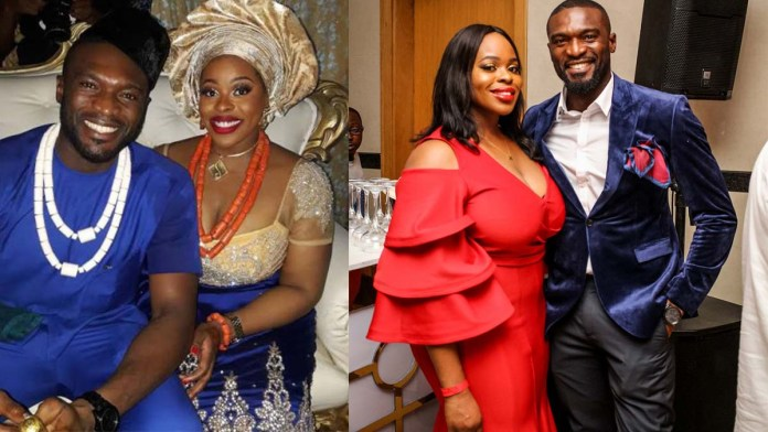 Kenneth Okolie and his wife