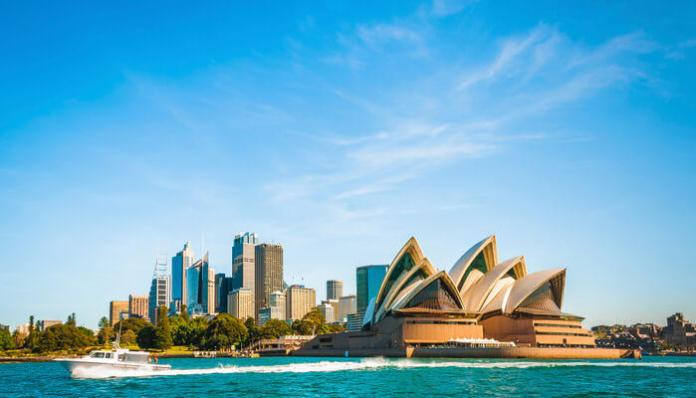 City Skyline of Sydney, Australia.
